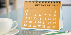 Table and wall hanging calender